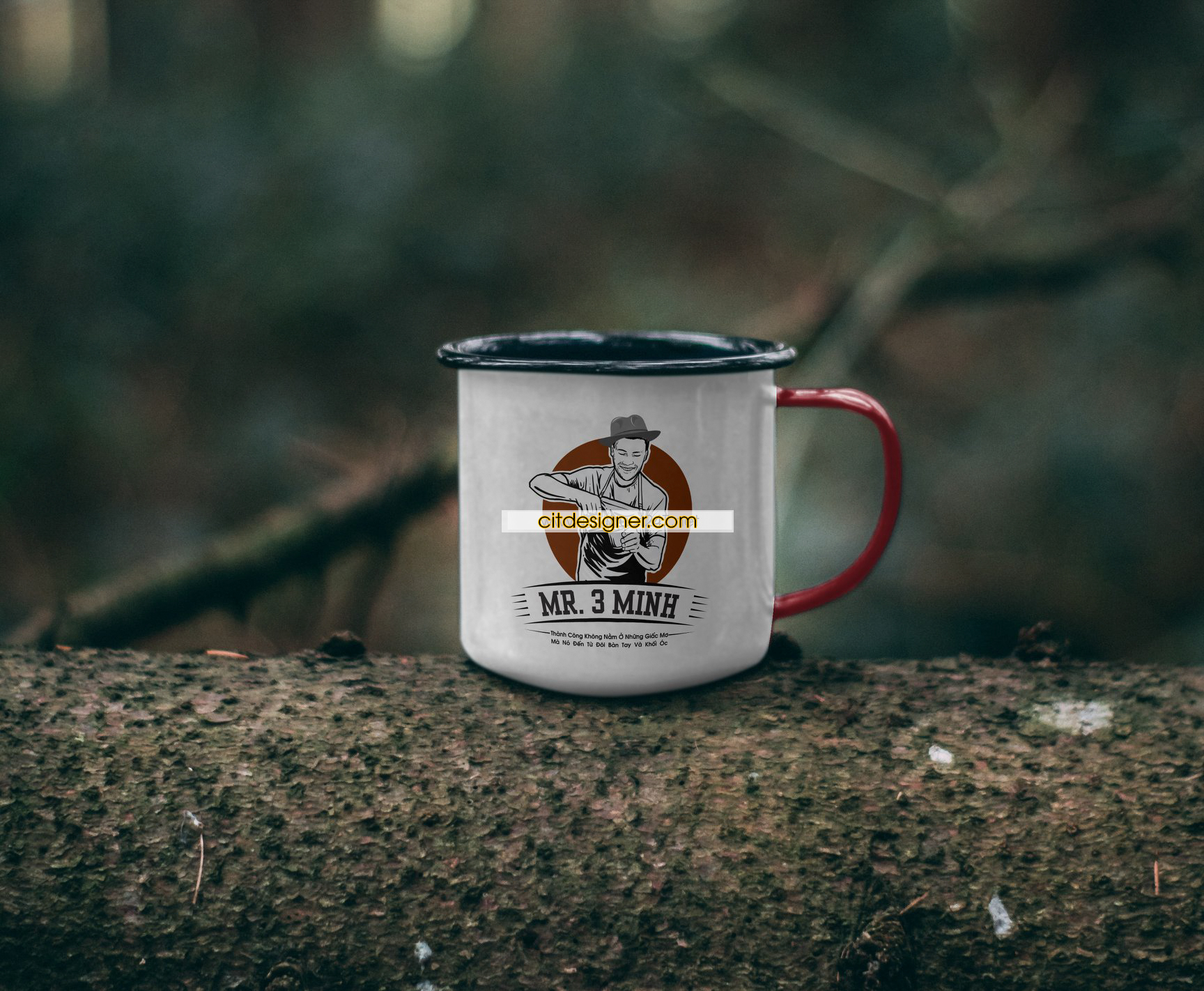 thiet ke logo cafe mr 3minh