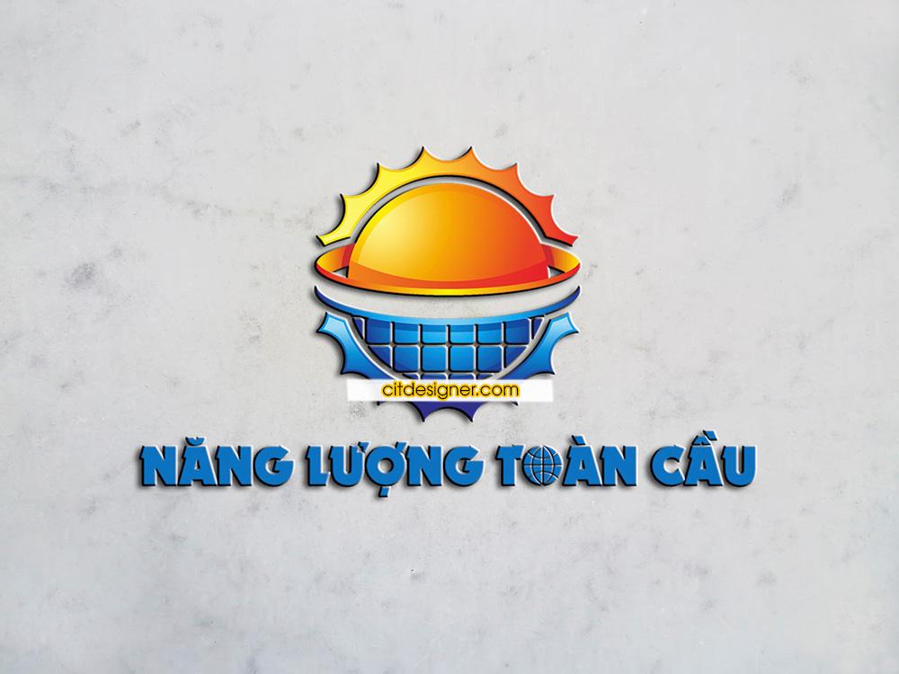 thiet ke logo dien nang luong mat troi