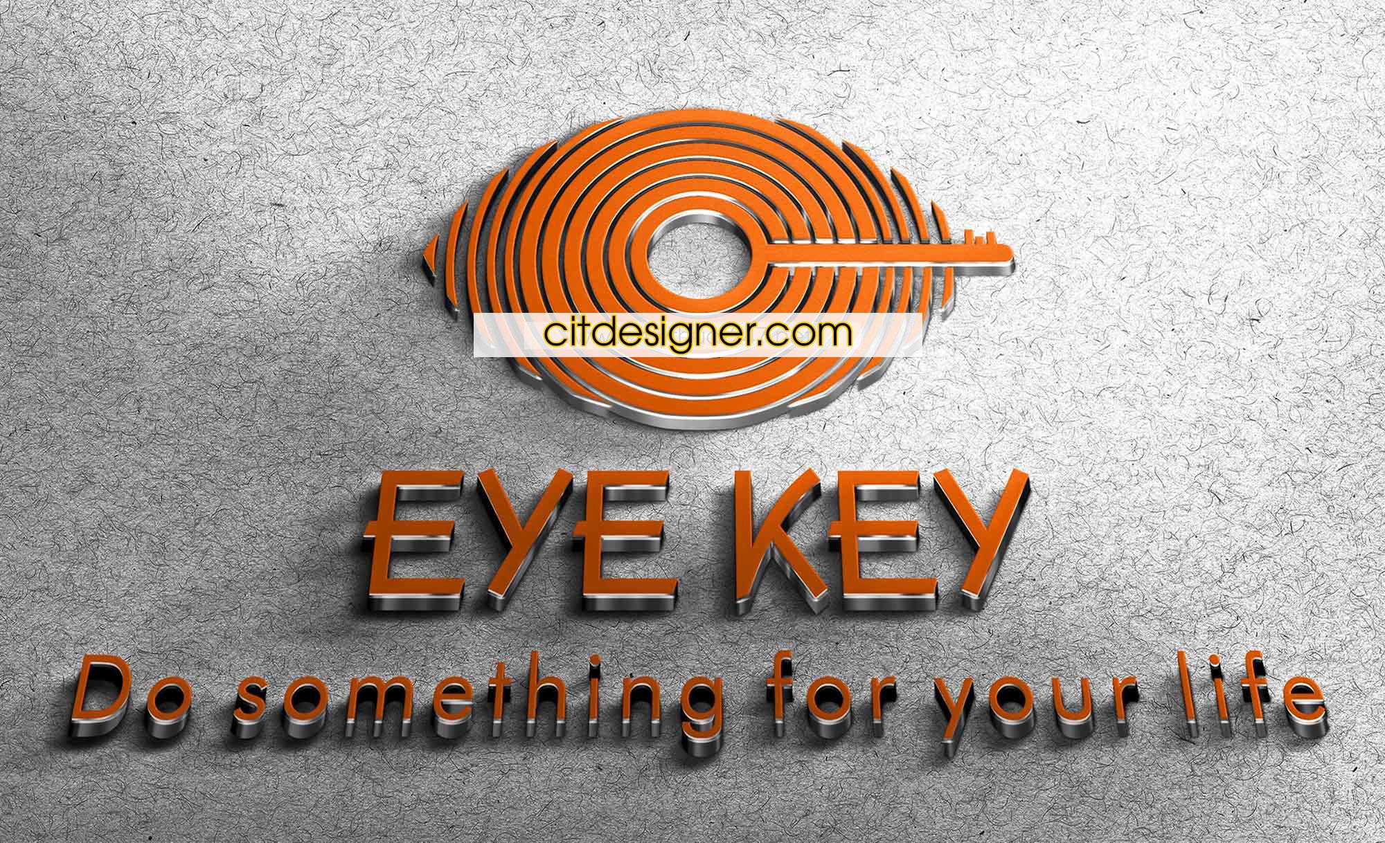 thiet ke logo eye key